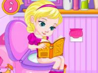 Jeu mobile Potty train baby elsa