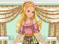 Jeu mobile Barbie's patchwork peasant dress