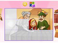 Jeu mobile Little red riding hood puzzle