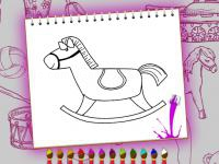 Jeu mobile Coloring book toy shop